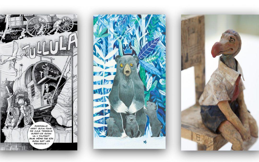 3 illustrateurs exposent