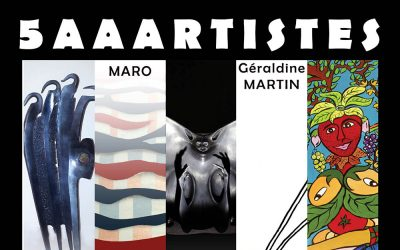 5 artistes à la Maison Rigolote du 2 au 24 octobre